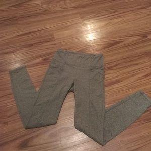Green Gray ATHLETA Yoga pocket Leggings SMALL